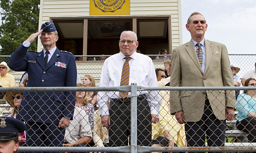 Craig Porter, center, retired from teaching after 29 years of service at R-MA.