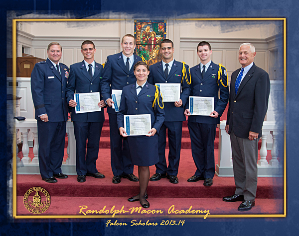Randolph-Macon Academy's five Falcon Scholars have all received appointments to the U.S. Air Force Academy.