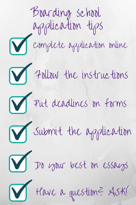 Boarding School Application Tips