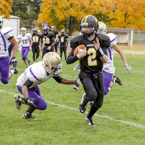 Peter Blair '16 is a quarterback on the R-MA Yellow Jackets football team.