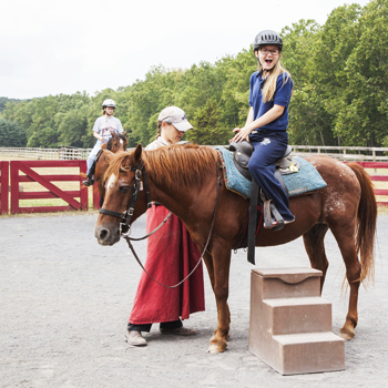 Weekend activities this year have included horseback riding, hiking, and mall trips.