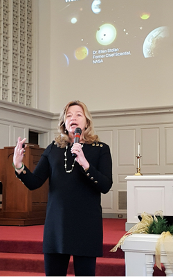 Dr. Ellen Stofan, former NASA Chief Scientist, speaks to the students of Randolph-Macon Academy.
