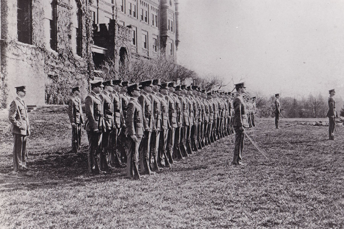 The first corps of cadets at Randolph-Macon Academy
