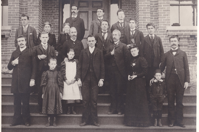 The first faculty and staff at Randolph-Macon Academy
