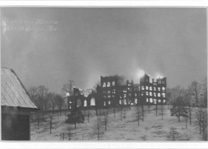 The 1927 fire that burned R-MA's boarding school to the ground