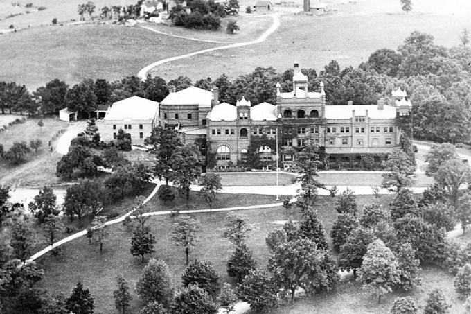 R-MA's original Virginia private school building before the Great Fire of 1927