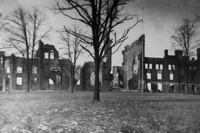 The ruins of R-MA's original boarding school building