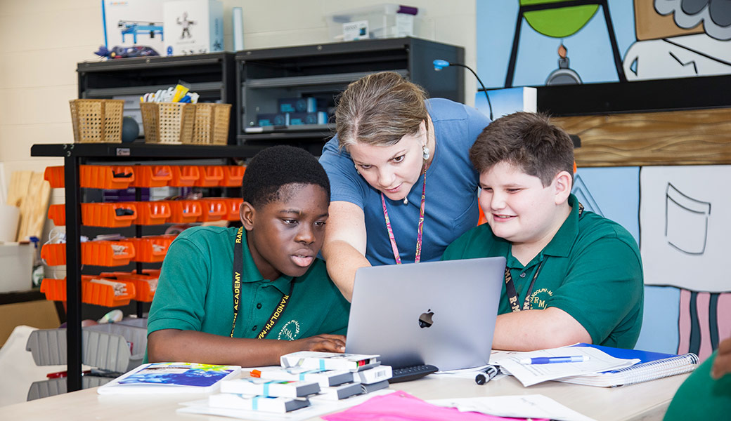 R-MA opened a new innovation lab at the Middle School this past fall. The fall of 2018 will bring an Innovation Lab to the Upper School, as R-MA continues to strive forward.
