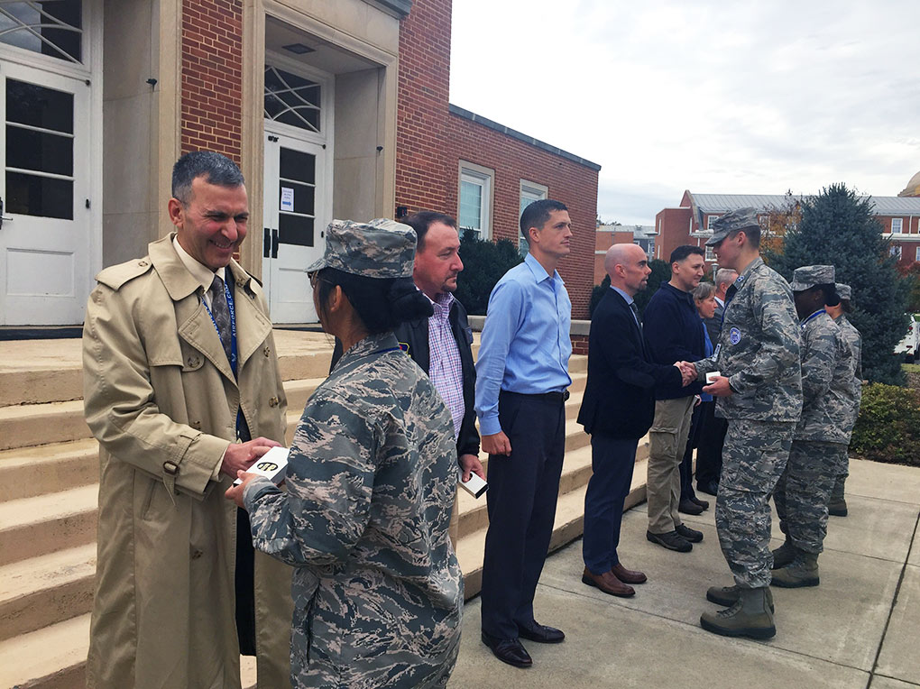 Veterans who met with R-MA cadets are presented a small token of appreciation.