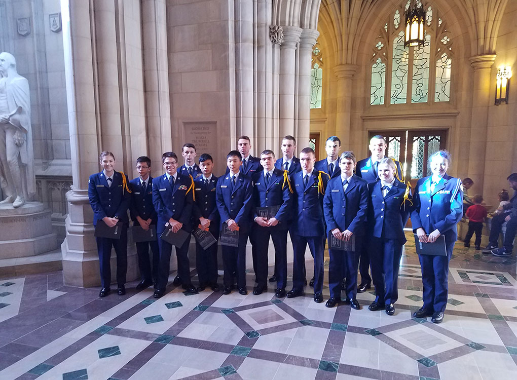 R-MA cadets attended the WWI Commemorative Service held at the National Cathedral on November 11, 2018.