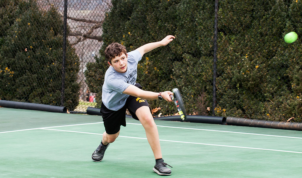 Henry Scott consistently played in the top two positions on the tennis team throughout the 2019 season.