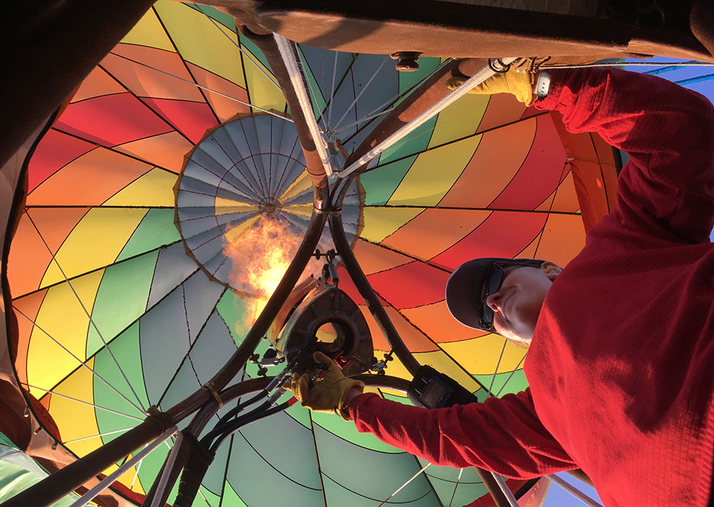 Virginia Waddell has completed her balloon solo and is well on her way to becoming one of the 5,000 balloon pilots in the U.S.