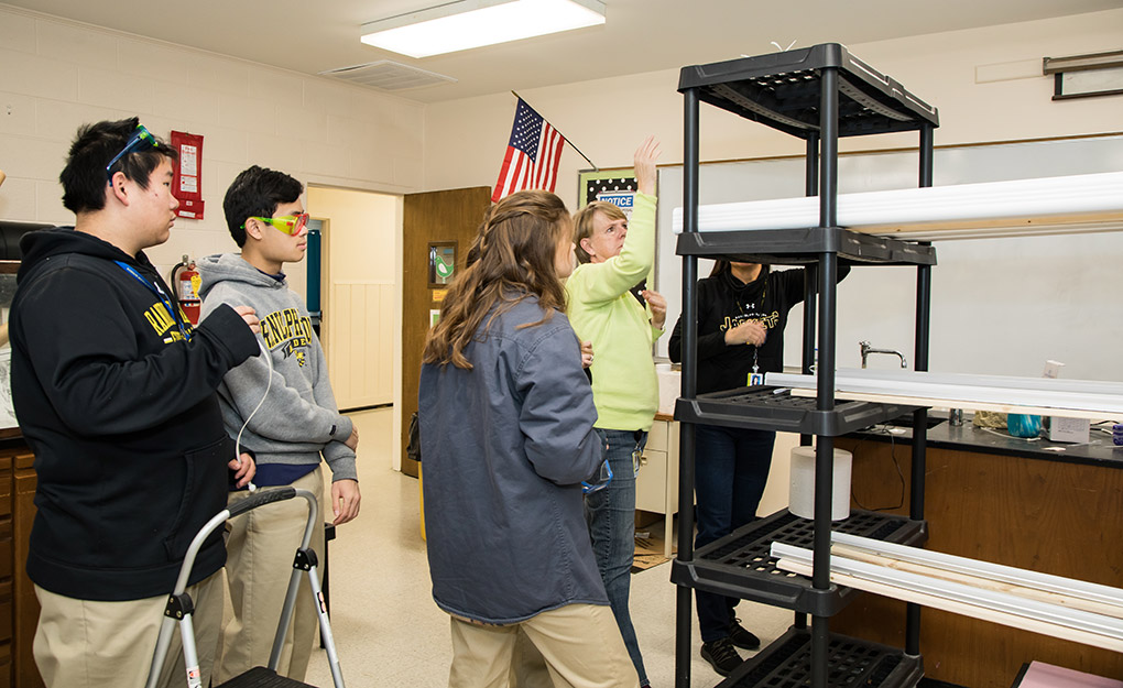 Hydroponics has provided a great method of growing food for boarding school students from around the world.